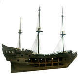 1:50 Black Pearl Ship Model Building Kits for Pirates of the Caribbean DIY Set Kits Assembly Boat Toy