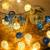2M Battery Powered Sepak Takraw Warm White 20LED Fairy String Light Christmas Party Holiday Decor