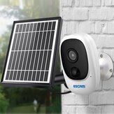 ESCAM G08 1080P Wireless Battery Rechargeable PIR IP Camera Solar Panel Audio Card Cloud Storage Security Video Recorder