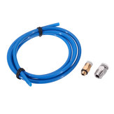 2x4mm 1.75mm Blue PTFE Tube + PC4-M10/PC4-M6 Pneumatic Connector Hotend Extrusion Kit for 3D Printer