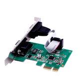 SSU PCI-E 2S PCI-E-Schnittstelle R232-Schnittstelle 9-polige COM-Erweiterungskarte