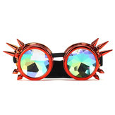 Retro Kaleidoscope Sunglasses Welding Round Fashion Unique Goggles Punk Eye Wear
