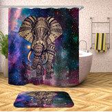 Set da bagno elefante Tenda da doccia antimuffa Tappeto antiscivolo Coprisedile Tappetino da bagno Tappeti Bagno Decorazioni