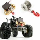 Upgrade Aluminum 25T Servo Winch Kits for 1/10 RC Crawler Car Accessory Parts
