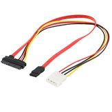 7 + 15 22Pin Serial ATA SATA para IDE 4P Disco rígido Adaptador de alimentação Cabo