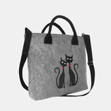 Dames Crossbody tas Cat patroon handtas