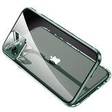 Bakeey Capa Protetora de Lente Magnética 360º 2 em 1 Magnética 360º + Frente + Traseira Frente e verso Vidro Temperado de Metal Temperado com Proteção Flip Caso para iPhone 11 Pro 5,8 polegadas