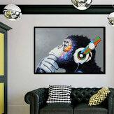 40 * 30 سم Miico لوحات زيتية مرسومة باليد Colorful لوحات الغوريلا جدار الفن لتزيين المنزل