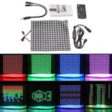 16*16CM WS2812 256 Pixels Digital Matrix LED Module Strip + 13Keys Remote Control + DC Controller DC5V