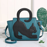 Women Crossbody Bag Cat Pattern Handbag Crossbody Bag