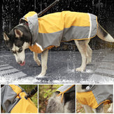 Pet Big Dog Raincoat Waterproof Clothes For Small Large Dogs Jumpsuit Rain Coat Hooded Overalls Cloak Labrador