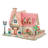 3D Woodcraft Puzzle Assembly House Kit Model Building Juguete educativo para niños Regalo