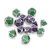 7 PCS Dices Polyhedral de Metal Definido Para Dungeons & Dragons Dice Desktop RPG Game