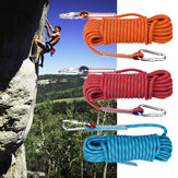 15mx10mm Double Buckle Rock Climbing Rope Outdoor Sports Mountaineering Climbing Downhill Safety Rope