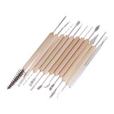 11Pcs Clay Sculpting Tool Kit Sculpt Smoothing Wax Carving Pottery Ceramic Tools Polymer Shapers Modeling Carved Tool