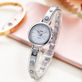 Pulsera de moda de lujo Tira de acero Rhinestone Mujer Reloj