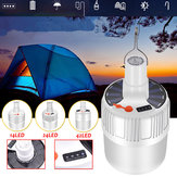USB Rechargeable LED Bulb Waterproof 5 Modes Solar Light Outdoor Camping Emergency Light