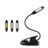 7 LED USB Rechargeable Eye-Care Warm Book Light Clip On Dimmable Table Lamp For Music Stand Night Reading Piano Power Indicator