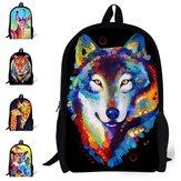 Men 3D Animal School Backpack Cartoon Travel Bag Hot