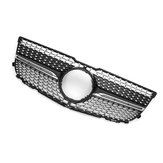 Diamond Black Front Grille Grill For Mercedes Benz GLK X204 GLK250 GLK350 2013 2014 2015