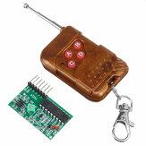 4チャネルワイヤレスRFリモートコントロールトランスミッターレシーバーモジュール