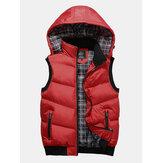 Afneembare capuchon, winterverdikt, warm casual vest
