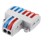 SPL-62 Two Groups of Parallel One-in and Three-out Splitter Terminal Wire Connector