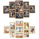 DIY 9PCS Family Collage Wedding Photo Picture Frame Wall Hanging Display Home Decorations