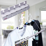 18m Wall Mounted Washing Clothes Laundry 5 line Airer Dryer Retractable Cloth Hanger