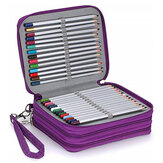78 Slots Lápis Colorido Caso Grande Capacidade Soft e Organizador de Porta-Lápis em Couro PU com Alça de Transporte Não Incluído Canetas