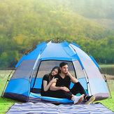 7 In 1 UV Ventilazione resistente Impermeabile all'aperto campeggio Tenda automatica esagonale