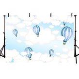 5x3FT 7x5FT 9x6FT Sky Nuage blanc ballon photographie toile de fond fond Studio Prop - 0,9 x 1,5 m