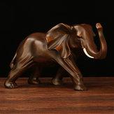 Resin Elephant Statue Fortune Maskottchen Wohnzimmer Schrank TV Office Home Dekorationen