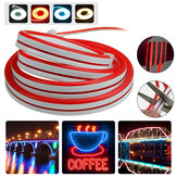 1M LED Strip Neon EL Wire Light Waterproof Outdoor Flexible Cuttable Silicone Tube Lamp DC12V
