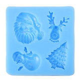 3D Christmas New Year House Silicone Fondant Mould Baking Chocolate Sugarcraft