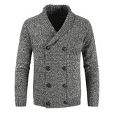 Men's New Fashion Casual Double Breasted Cardigan Sweaters