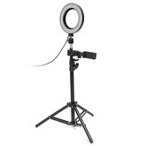 Dimmerabile LED Studio fotografica Anello luminoso Trucco Foto lampada Supporto per selfie Treppiede USB con supporto per telefono per video Youtube
