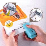 Loskii Mini Taşınabilir Vakum Sealer Sızdırmazlık Paketleri Plastik Yakın Çantalar ve Poşet Vakumlu Gıda Klipler