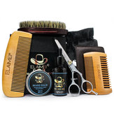 Beard Grooming Trimming Kit for Men 7-in-1 Beard Care Kit Beard Scissors Comb Brush Beard Oil Balm Grooming Beard Comb Tool Set