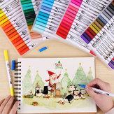 D93162 1 stuk 12/24/36/4872/100 kleuren markeerstiften set tweekoppige gekleurde markeerstift hand schilderij kunstenaar pennen geschenken voor kinderen kinderen