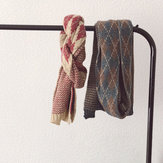 Vintage stijl wollen sjaal warm gebreide sjaal