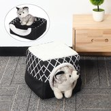 Folding Feather Ấm Puppy House Dog Cat Pet Bed Cave Ngủ Mat Pad Soft Đệm
