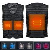 Doppio cotone riscaldato elettrico 3 Gear USB Vest Uomo Donna 3S Abbigliamento giacca riscaldamento rapido