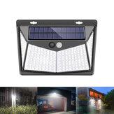208 LED Tenaga surya PIR Sensor Gerak Dinding Cahaya Lampu Taman Luar Ruangan Tahan Air