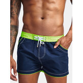 M-2XL Color Block Knitting Board Shorts