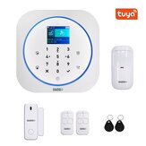 GUUDGO Tuya APP Smart WiFi GSM Home Security Alarm System Detector Home Alarm 433MHz Compatible With Alexa Google IFTTT