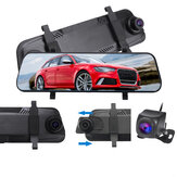 9.66 inch 1080P Car Rear View Mirror DVR Camera Dash Cam Full Screen Touch Recorder