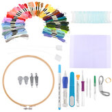 85PCS DIY Magic Embroidery Stitching Punch Needle Tool Stitch Punch Pen with Caso Sets DIY Craft Ferramenta de costura para bordar ponto cruz