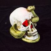 Halloween Szkielet Wąż Czaszka Głowa Statuetka Statua do Dekoracji Halloween