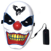 Halloween Clown LED Glow Mask Festival Supplies Props Scary El Lighting Mask for Decoration
